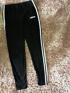Girls Age 13 - 14 Years Black Leggings sports Bottoms 100% Genuine Adidas VGC