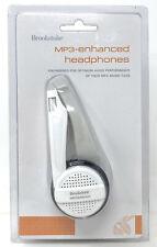 Brookstone Enhanced MP3 CD Headphones New White Lightweight Folding Travel RARE