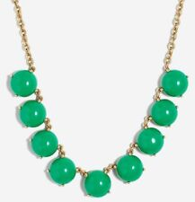 J CREW Mini Bubble Stone Statement Necklace Vintage Kelly Green NWT