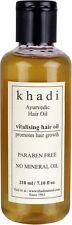 Khadi Ayurvedic Vitalising Hair Oil Paraben Free No Mineral Oil - 210 ml