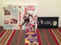 La grande aventure de pee-wee VHS tape & clamshell case FRENCH RARE