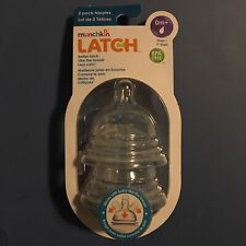 Munchkin LATCH Stage 1 Nipple, BPA-Free, Birth And Up, 2-Pack Ships N 24h