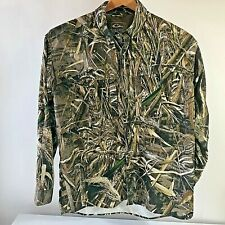 Drake Waterfowl Systems Real Tree Max-5 Men Camo L/S Button  Shirt Medium NWOT