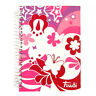 Girls Spiralbound Address Book - Stars & Butterfly - by Trudi