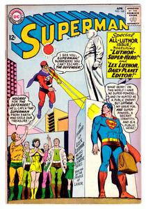 SUPERMAN #168 in FN/VF- condition a 1964 DC Silver Age comic