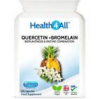 Health4All Quercetin 400mg + Bromelain 100mg Capsules   Natural antihistamine