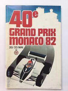 Monaco Grand Prix 1982 programme