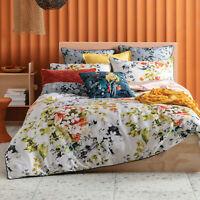 KAS Verena Floral Cotton Sateen Quilt Cover Set Multi