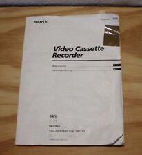 Bedienungsanleitung -Sony- Video Cassette Recorder -SLV-E800A-.