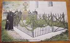 1910's Priests by Father Damien's Grave Molokai TH Hawaii Steiner PMC #125
