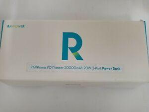 "RAVPower PD Power Pioneer  20000mAh 20w 3-port Power Bank. ""Open Box""C8"