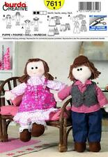 Burda Sewing Pattern 7611 Doll Ragdoll UNCUT