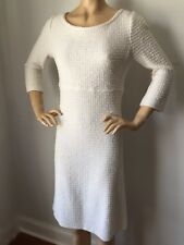 NWT St John Knit dress size 14 cream tweed gold shimmer