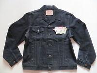 Levi's® Biker Jacke Jeansjacke Gr. XL Schwarz, NEU ! Original Black Denim, RAR !