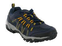 Hi-Tec Jaguar Mens Walking Outdoor Comfort Trail Trainer Navy Yellow UK7-12