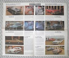 1977 Mercury Brochure / Poster:COUGAR / XR-7,MARQUIS,COMET,GRAND MARQUIS,Lincoln