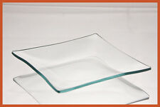 """5"""" Square Clear '""""BENT"""" Glass Plate 1/8"""""""