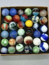 VINTAGE MARBLES AKRO MARBLE ALLEY MARBLE MIXED MACHINE MADE MARBLES