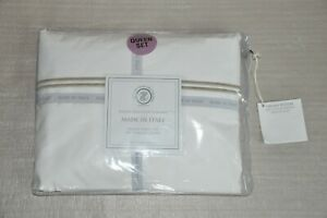 NWT Tessitura Toscana Telerie Finest Linens of Tuscany White Queen Sheet Set
