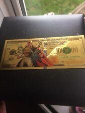 Marvel Avengers 24k Stan Lee Gold Foil Bank Note