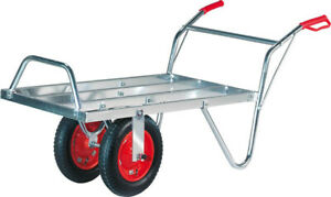 AgriShop Alu-Schweizerkarre, ausziehbar, 100 kg Tragkraft