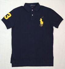 $98 Men Polo Ralph Lauren Big Pony Custom Fit Short Sleeves Rugby Mesh Shirt M