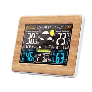 Wireless Indoor Outdoor Weather Station Digital Thermometer Temperature Clock UK
