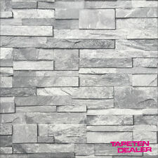 Steintapete grau  Steinoptik Tapeten aus Vinyl | eBay