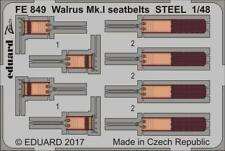 Eduard 1:48 Walrus Mk.I seatbelts STEEL  Color PE Detail Set For AIRFIX #FE849