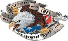"Freedom Isn't Free 3M Vinyl Decal 14"" RV Travel Trailer Truck Boat Auto"