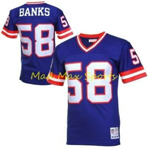 CARL BANKS 1986 New York GIANTS Blue MITCHELL AND NESS Throwback LEGACY Jersey