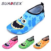 SUADEEX Toddler Aqua Socks Boys Girls Cute Monster Quick Dry Beach Water Shoes