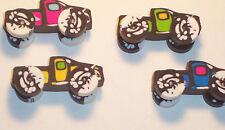 Monster TRUCK Vehicle Wheels 3D Multi Color Boys Pencil ERASERS Party Bag Filler