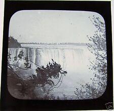 Glass Magic lantern slide CANADIAN AND HORSESHOE FALLS C1890 NIAGRA  USA NIAGARA