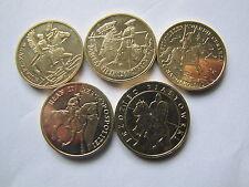 2 zł.seria wojsko konne  5 szt. waga jednej monety  GN 8,15 grama UNC