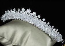 Boda Graduación Accessorios brillante cristal hecho a mano Tiara Peineta t1502