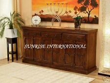 Big Wooden sideboard with iron fitting and hand carving !!