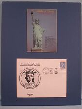 The 100th Anniversary of the Statue of Liberty Stamp & First Day Cover