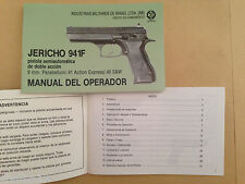 Baby-Eagle Jericho Metal-frame Original IMI Manual del Operador in SPANISH
