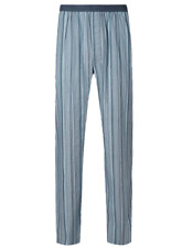 Brand New Ex Marks And Spencer Pure Cotton Striped Long Mens Pyjama Bottoms