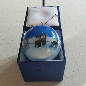 SCHNAUZER DOG CHRISTMAS BAUBLE INCLUDING DECORATIVE GIFT BOX FREE POSTAGE