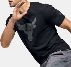 NWT Under Armour Men's Project Rock DISRUPT Short Sleeve T-Shirt  SIZE  XL