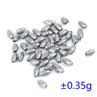 50Pcs Dark Gray Lead Oval Shaped Beads Fishing Lures Angling Gear 0.5g-1g//PC