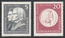 *1p SALE* Germany - East, 1961 Birth Anniv. Liszt 5/20pf. SG E596/8 U/Mint MNH