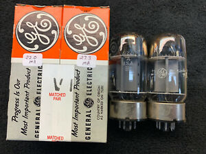2 Plate Current Matched GE 6550 Audio Tubes USA