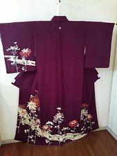 Vintage Japanese Kimono Women Silk TSUKESAGE !KOSHIDA K1701 013