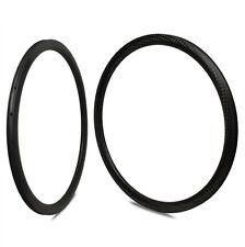 1 pair New 12K Weave 50mm Carbon Rim Clincher 700C Road Bicycle Rim 25mm wide