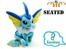 Peluche Vaporeon Eevee Pokemon 20cm sentado