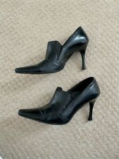 Women's Shoes, Black, Leather, High Heels, Worn, Size 36 (UK 3)