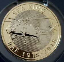 Royal Mint 2018 RAF Sea King Helicopter 100 Years £2 Two Pound BU Coin